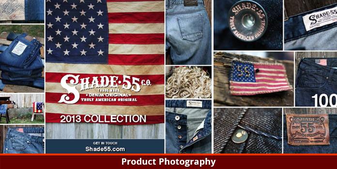 Shade 55 Denim - Product Photography - Los Angeles, CA