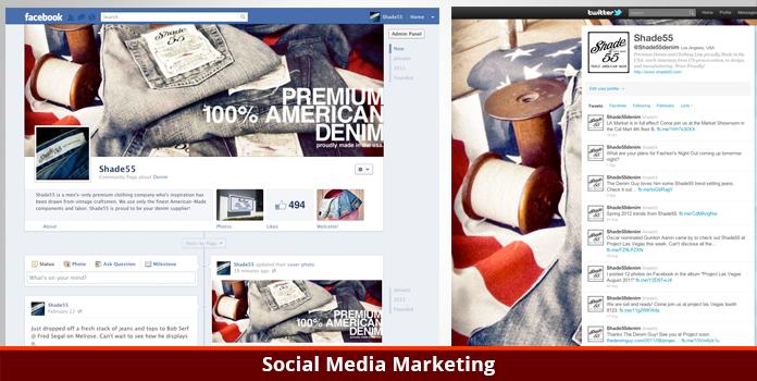 Shade 55 Denim - Social Media Marketing - Los Angeles, CA