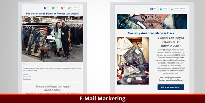 Shade 55 Denim - Email Marketing - Los Angeles, CA