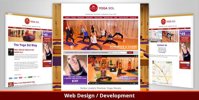 Yoga Sol Studio - Website Design and Development - Orange County, CA