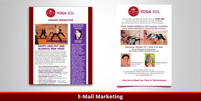 Yoga Sol Studio - Email Marketing - Orange County, CA