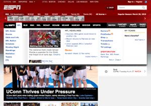 ESPN Re-Design - Old Drop Down