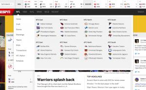 ESPN Re-Design Fail - New Drop Down