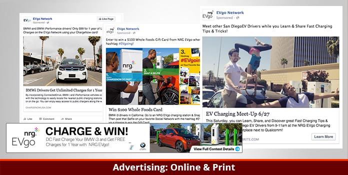 EVgo - BMW i3 Campaign - Advertising: Online & Print